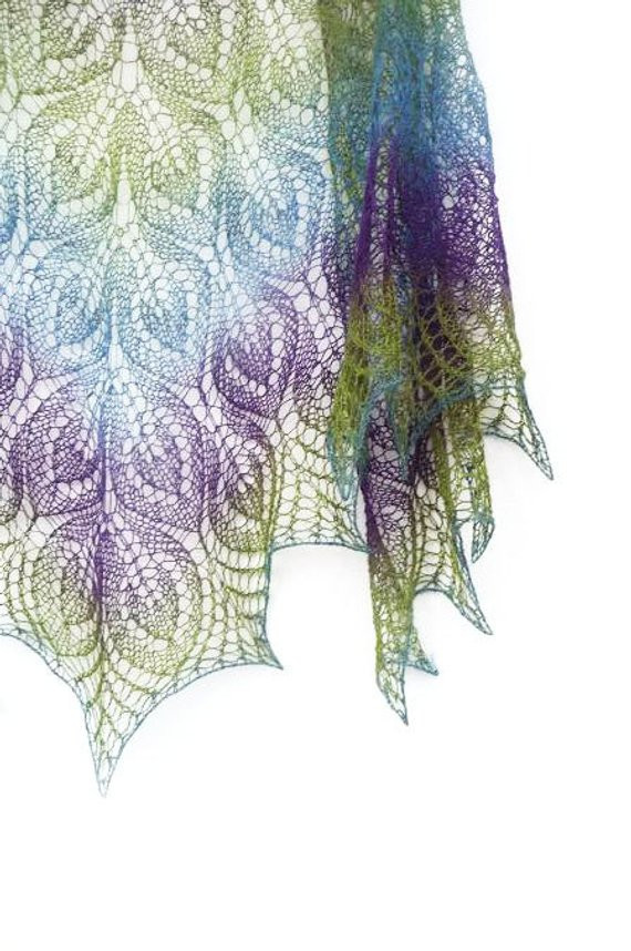 Fresh Peacock Hand Knit Lace Shawl Purple Blue Green Spring Peacock Shawl Of Charming 44 Pictures Peacock Shawl