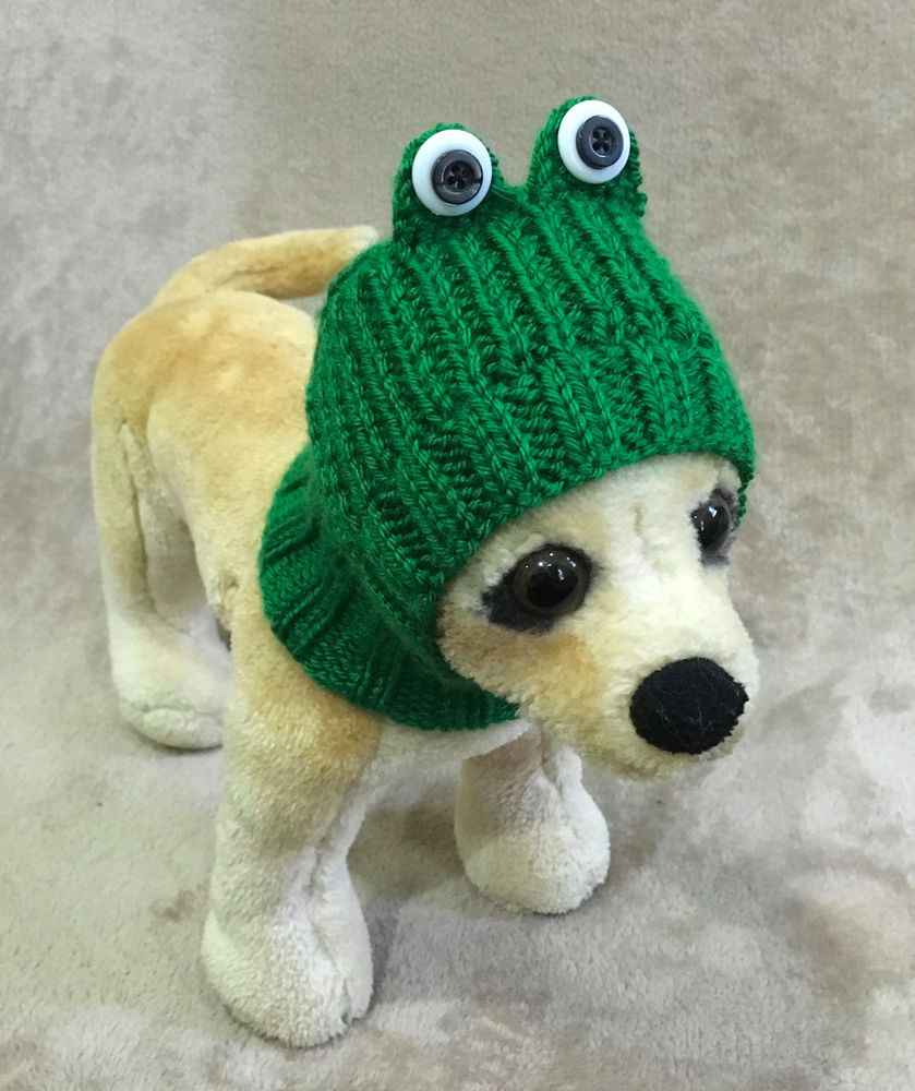 Fresh Pet Clothes Apparel Hand Made Knit Frog Hat for Small Dog Knitted Dog Hats Of Innovative 49 Images Knitted Dog Hats
