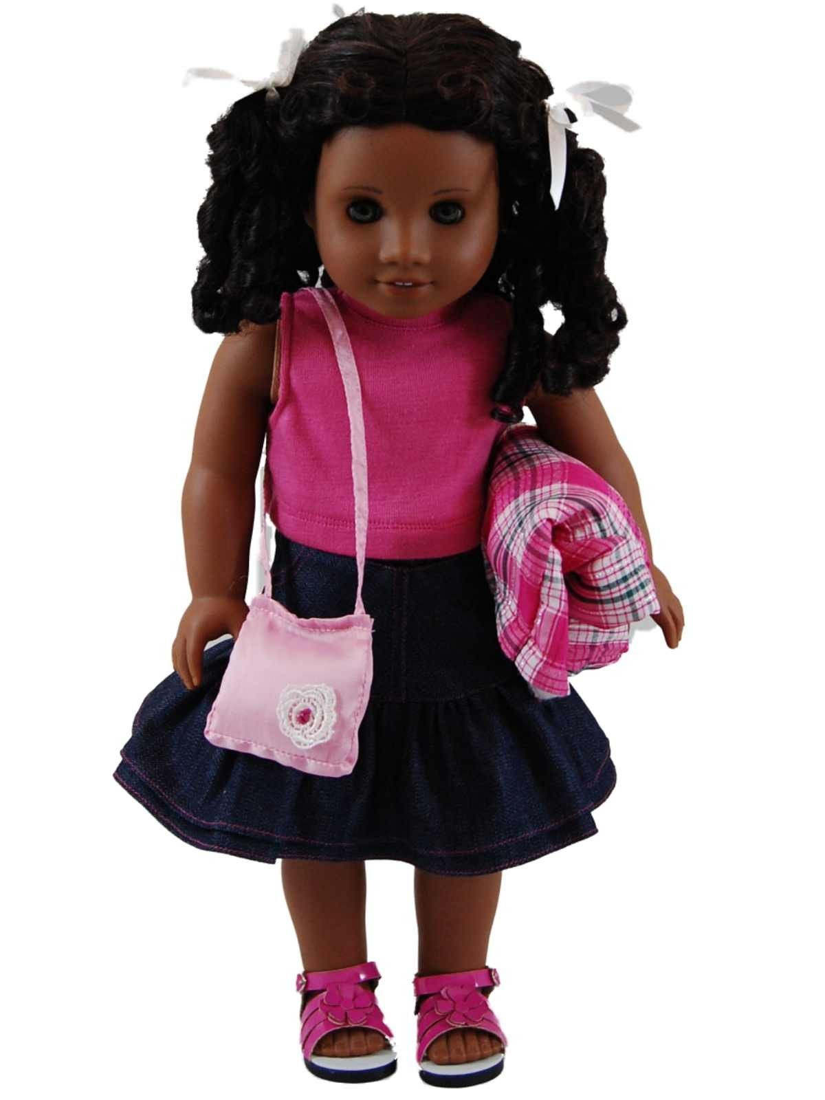 Fresh Plaid Jacket and Denim Doll Clothes Skirt Set for 18 American Girl Doll Skirts Of Incredible 50 Ideas American Girl Doll Skirts