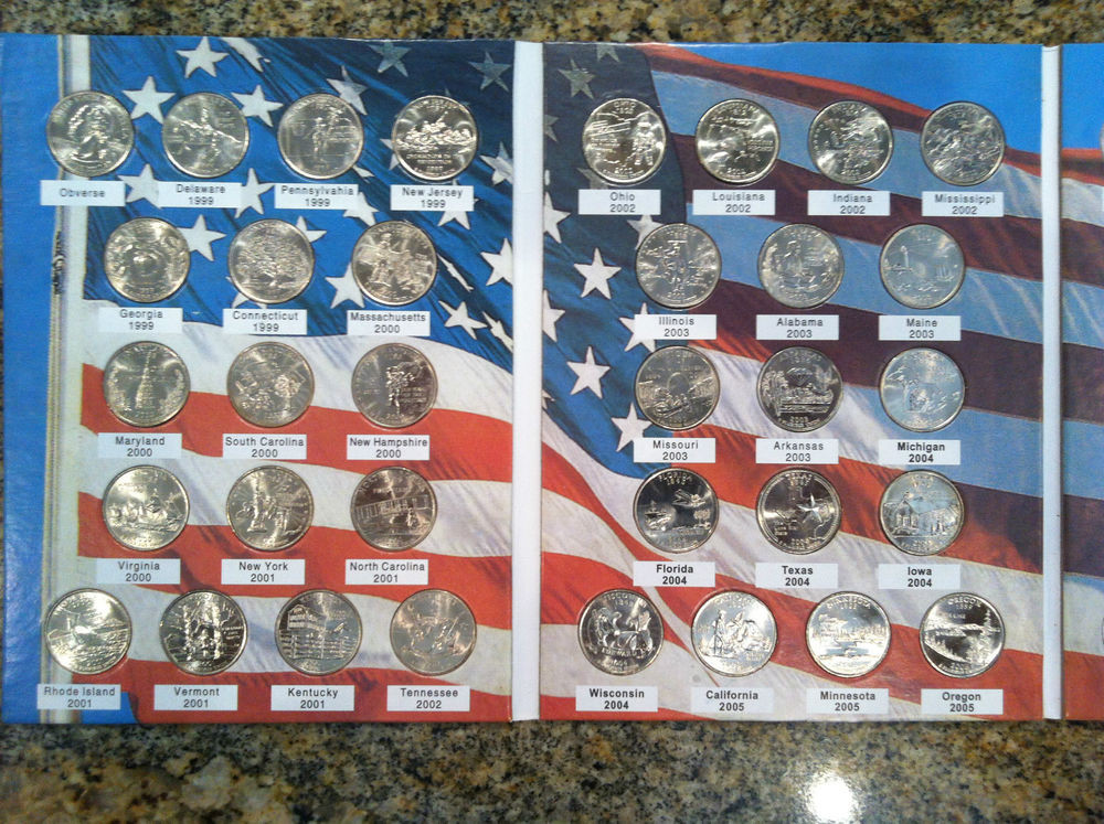 Fresh Plete 112 State Quarter Collection W Us Territories State Quarter Set Of Superb 44 Pictures State Quarter Set