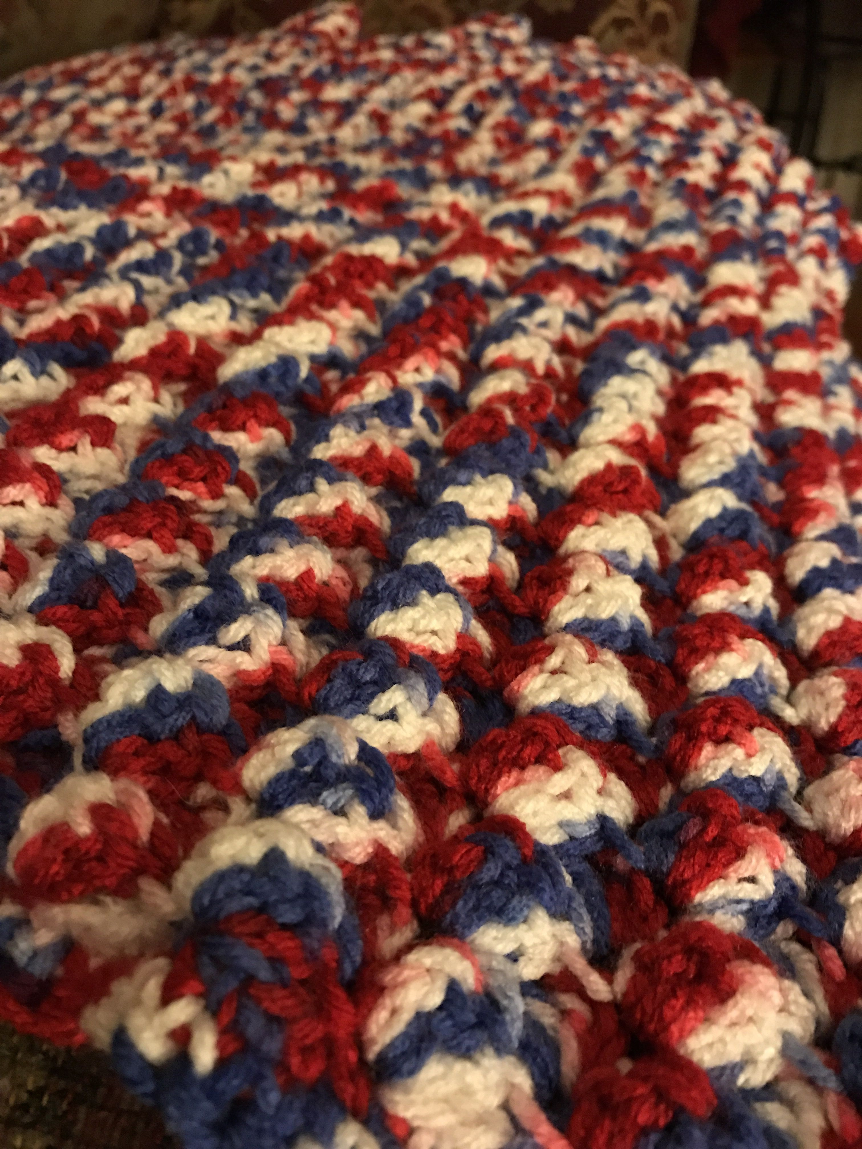 Fresh Puff Stitch In Red White Blue Variegated Yarn Red White and Blue Yarn Of Awesome 48 Pictures Red White and Blue Yarn