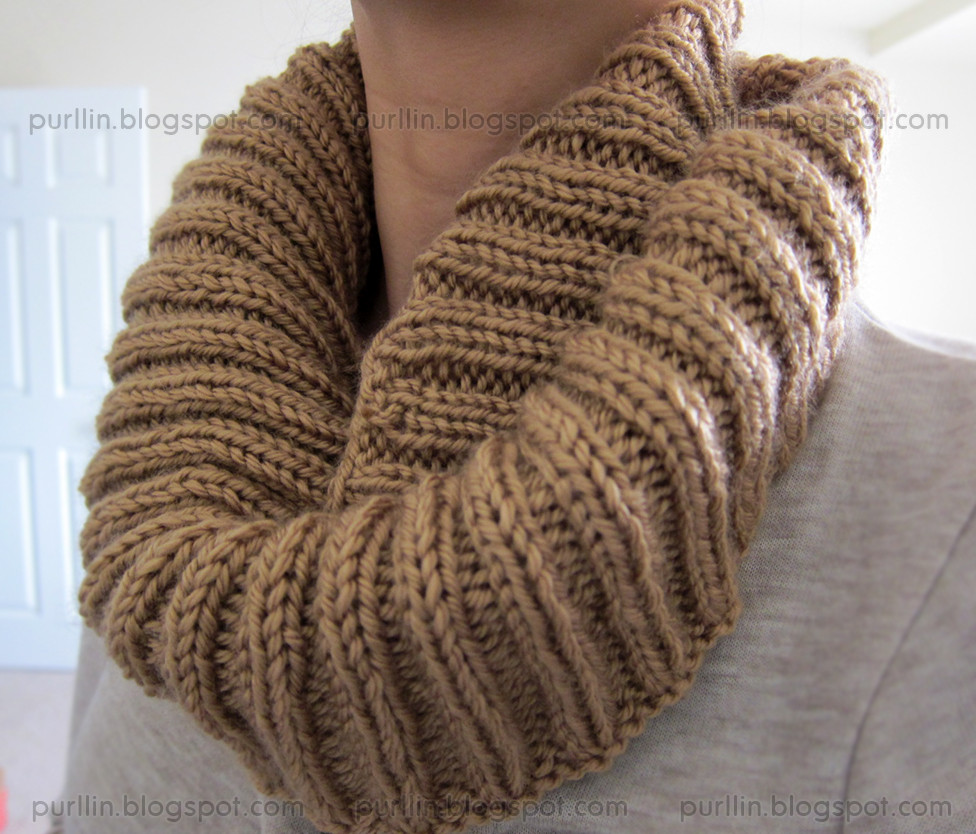 Purllin Autumn Infinity Circle Scarf free pattern