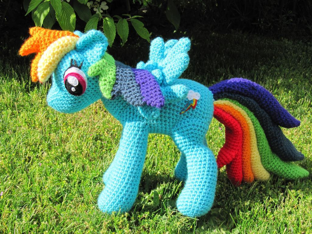 Fresh Rainbow Dash From My Little Pony by Nerdyknitterdesigns My Little Pony Crochet Pattern Of Brilliant 49 Ideas My Little Pony Crochet Pattern