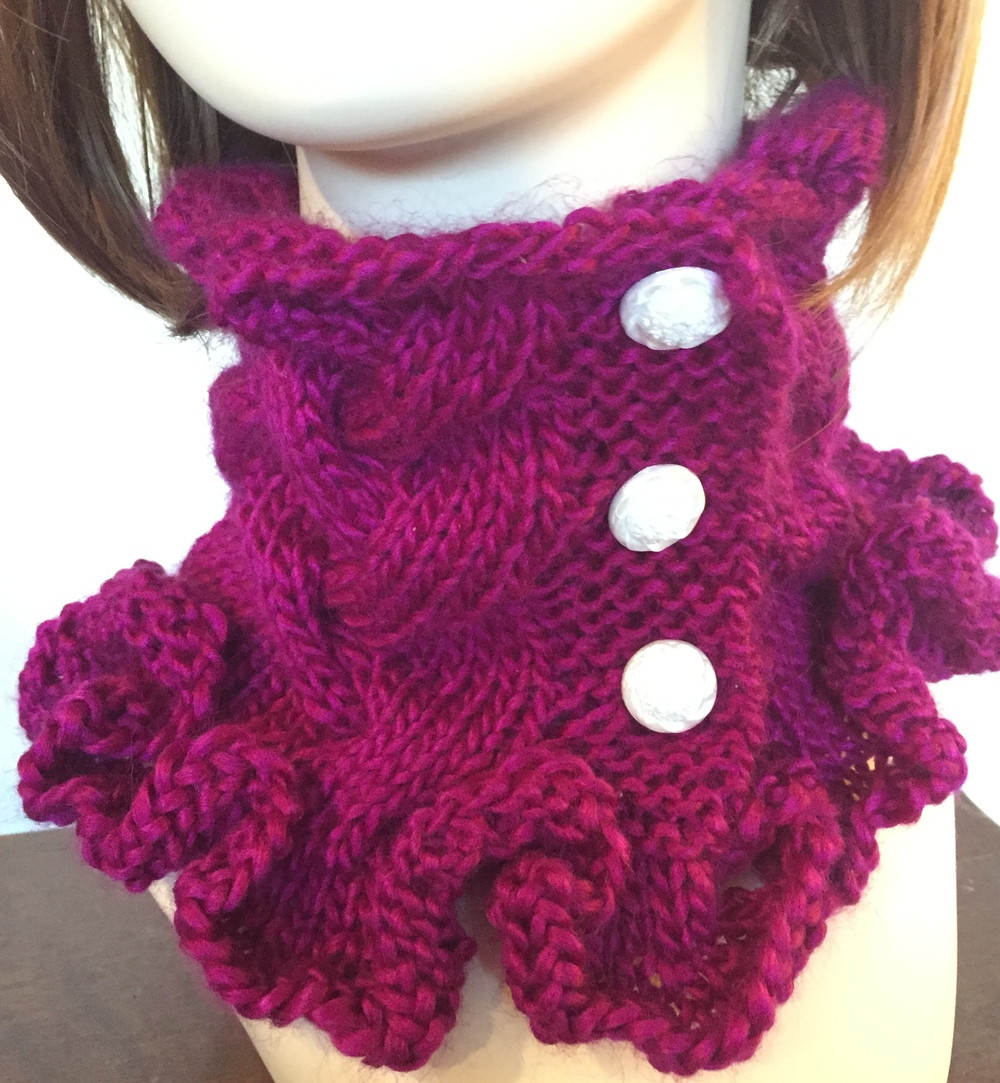 Fresh Raspberry Ruffles Cowl Knitting Pattern Knit Cowl Scarf Of Gorgeous 41 Pictures Knit Cowl Scarf