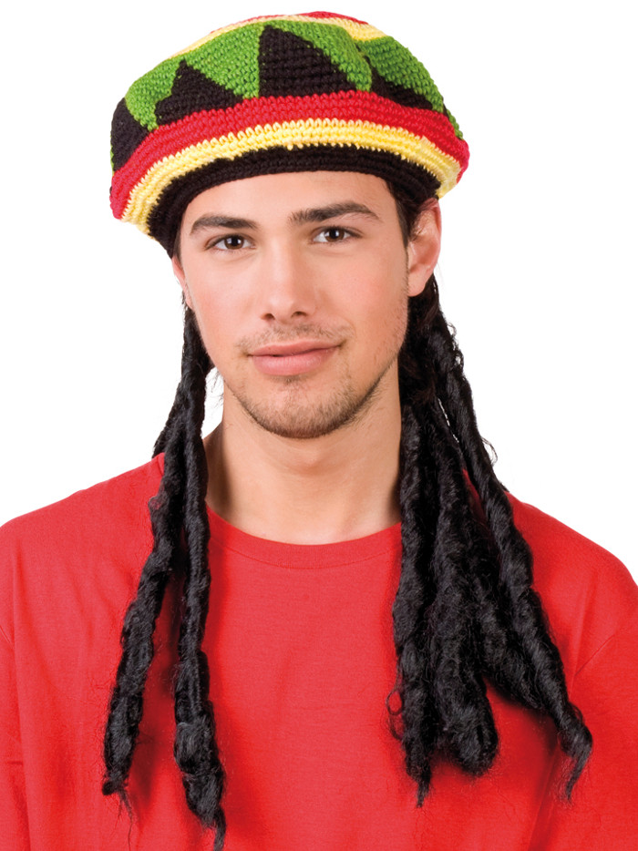 Fresh Rasta Beret Dreadlocks Wig Partynutters Uk Rasta Hat with Dreads Of New 32 Photos Rasta Hat with Dreads