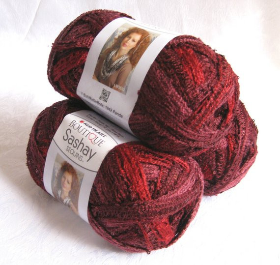 Fresh Red Heart Sashay Sequins Yarn Cabernet Ruffling by Crochetgal Red Heart Bulky Yarn Of Fresh 50 Pictures Red Heart Bulky Yarn