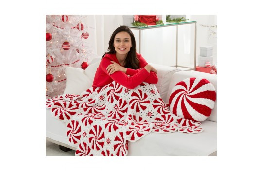 Fresh Red Heart soft Peppermint Throw and Pillow Peppermint Throw Of Great 46 Ideas Peppermint Throw