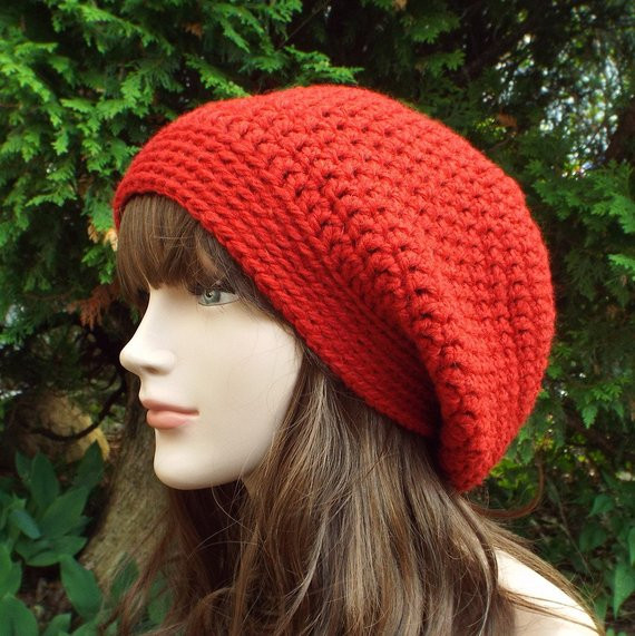 Fresh Red Slouch Beanie Womens Slouchy Crochet Hat Oversized Red Slouchy Beanie Of New 50 Models Red Slouchy Beanie