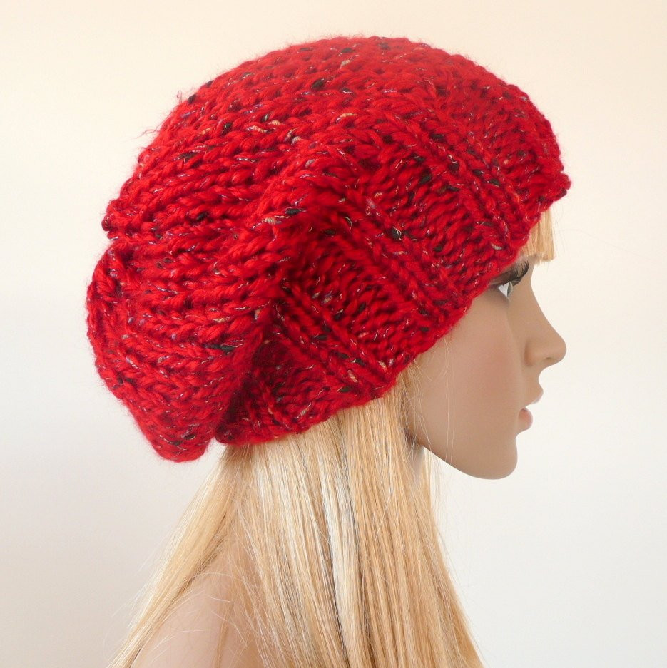 Fresh Red Slouchy Hat Beanie Red Knit Hat Red Beanie Slouch Red Slouchy Beanie Of New 50 Models Red Slouchy Beanie