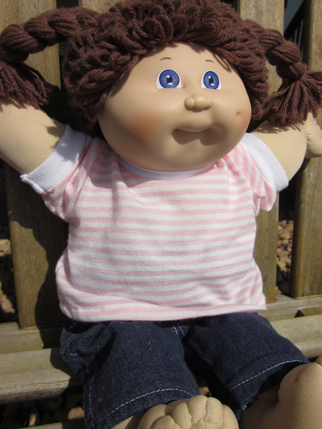 Fresh Reserved Vintage Cabbage Patch Kid Doll Brown Hair Violet Baby Cabbage Patch Doll Of Great 47 Photos Baby Cabbage Patch Doll