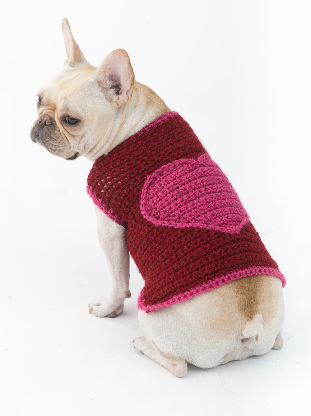 Fresh Romantic Dog Sweater In Lion Brand Vanna S Choice L Free Crochet Pattern for Small Dog Sweater Of Adorable 48 Images Free Crochet Pattern for Small Dog Sweater