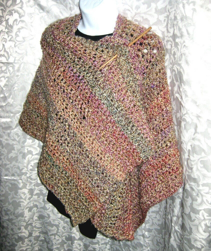Fresh Ruana Wrap or Blanket Shawl Pdf Crochet Pattern Your by Free Crochet Ruana Pattern Of Amazing 46 Ideas Free Crochet Ruana Pattern
