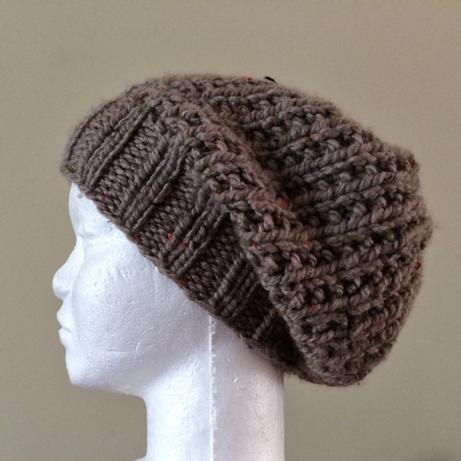 free pattern friday ribby slouch hat