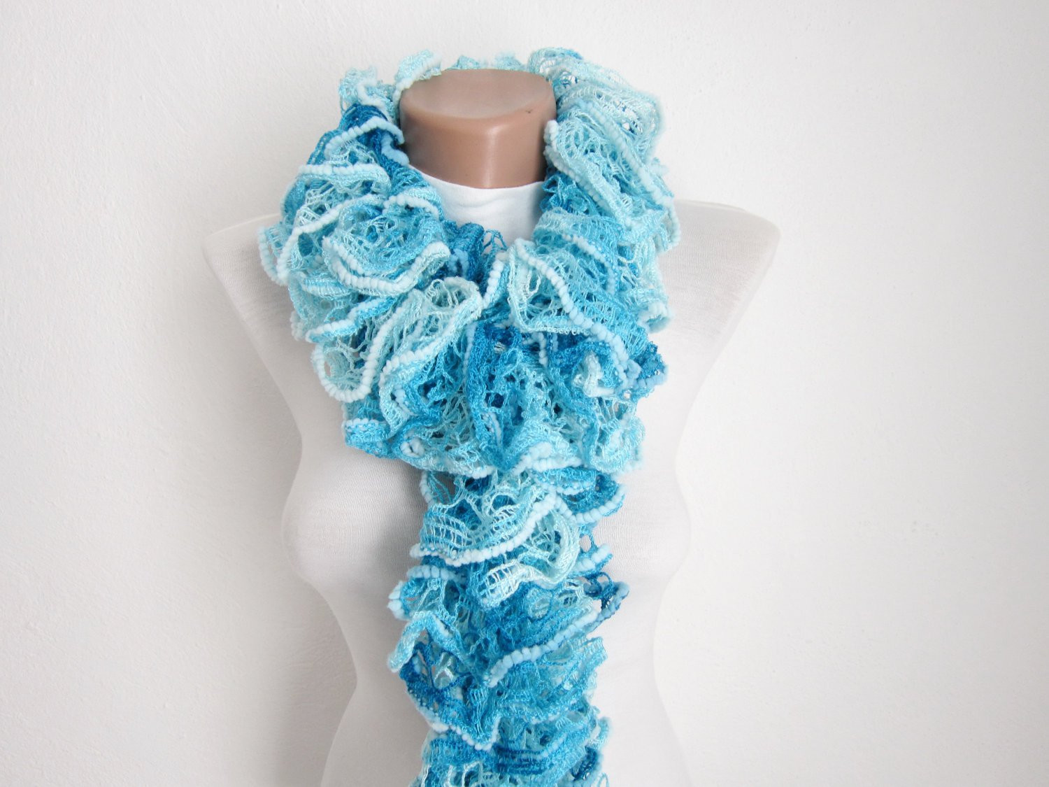 Fresh Ruffle Scarf Knit Scarf Frilly Scarf Salsa Scarf Gift for Knit Ruffle Scarf Of Marvelous 50 Pics Knit Ruffle Scarf