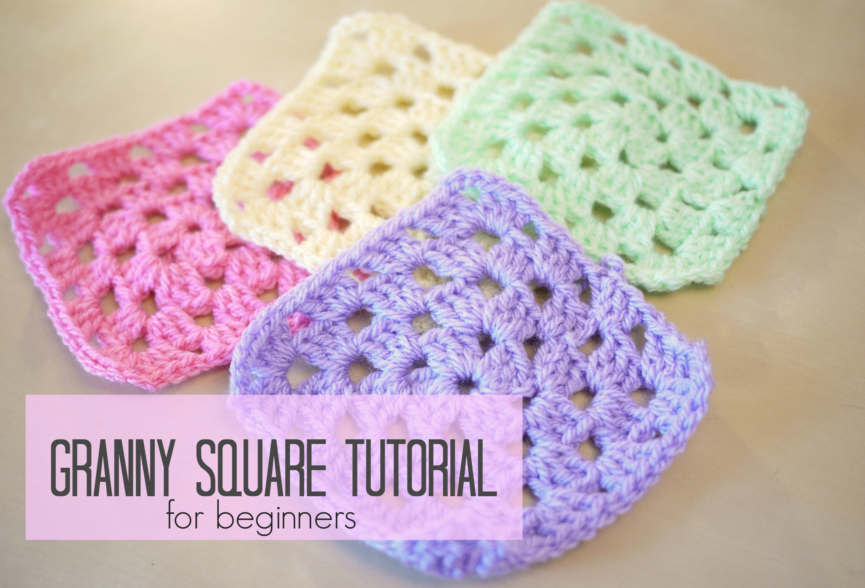 [ s Video Tutorial] Granny Square For Beginners Step