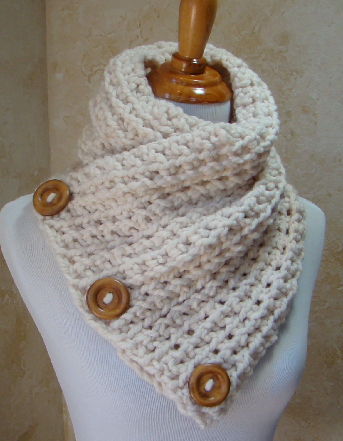 Fresh Sale Off Crochet Scarf 3 button Scarf Wrap Cowlcream 3 Crochet button Scarf Of Top 47 Images Crochet button Scarf