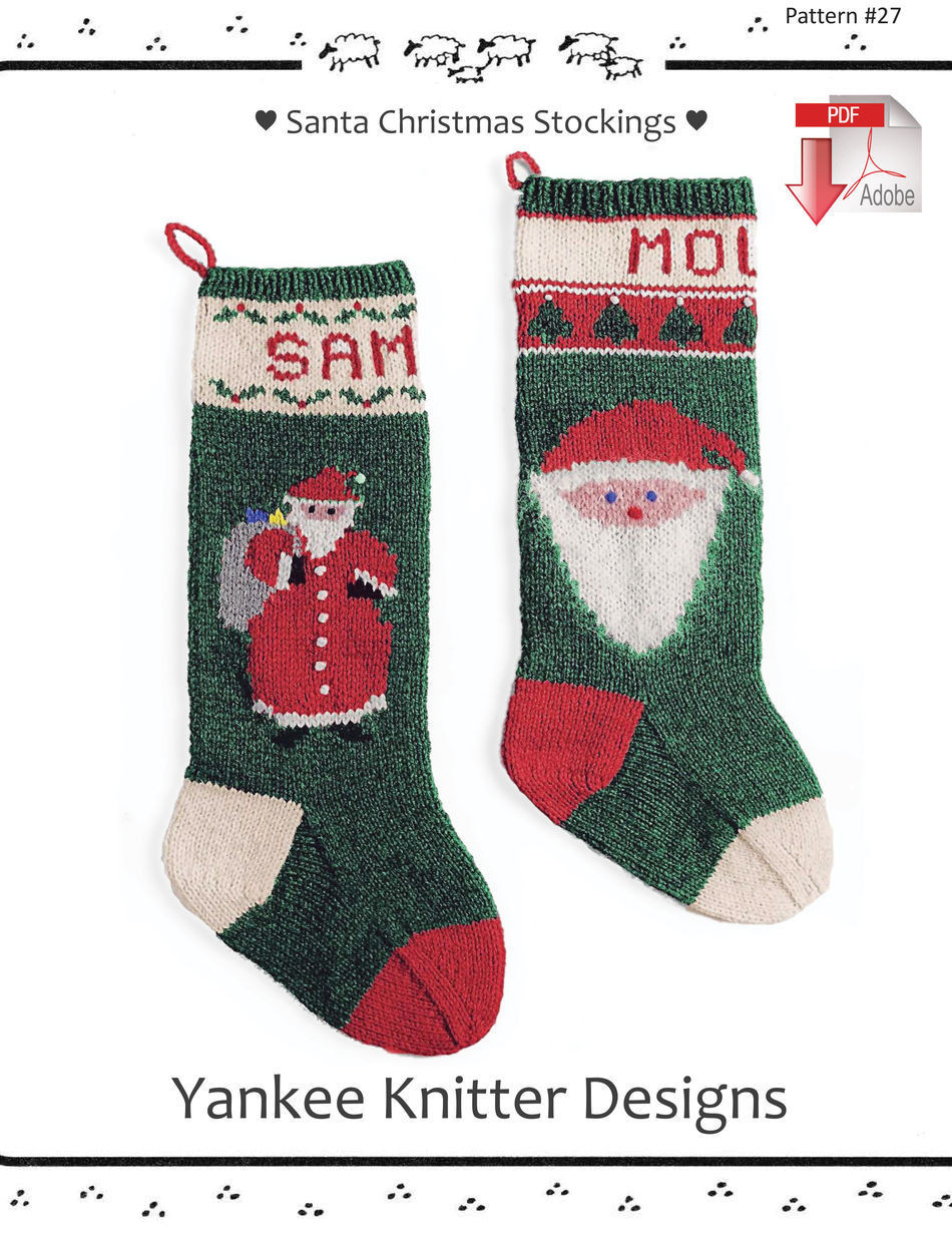 Fresh Santa Christmas Stockings Yankee Knitter Pattern Knit Stocking Pattern Of Attractive 47 Pictures Knit Stocking Pattern
