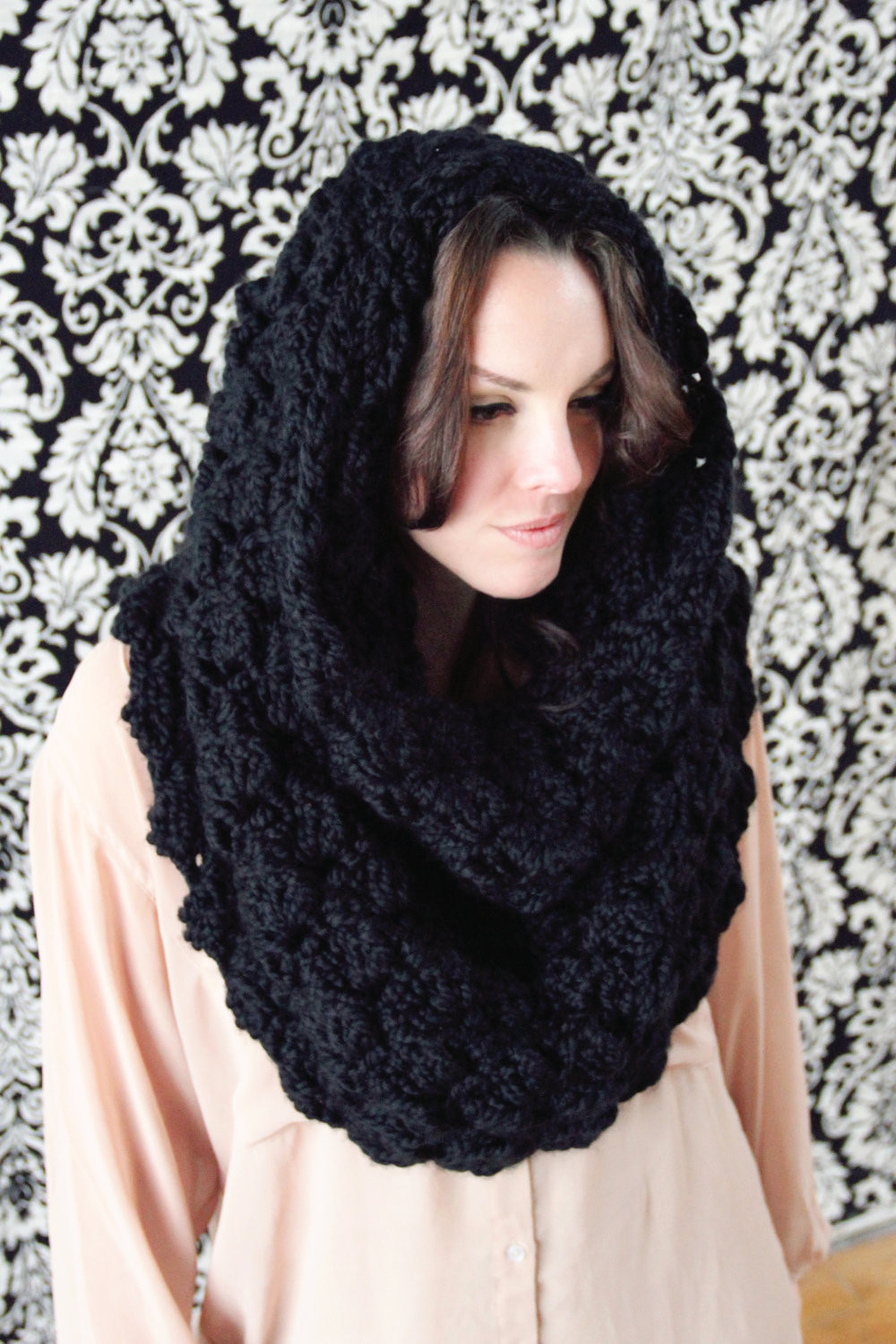Fresh Scarf Crochet Pattern Hooded Cowl Convertible Wrap Over Sized Crochet Hooded Scarf Of Wonderful 48 Images Crochet Hooded Scarf