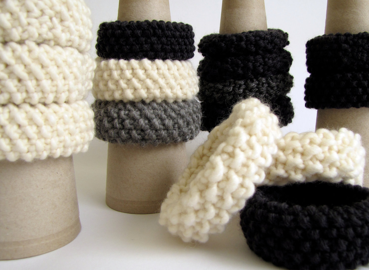 Fresh Set Of 3 Hand Knitted Bracelets Choose Your Colors by Knitted Bracelet Of Brilliant 50 Models Knitted Bracelet