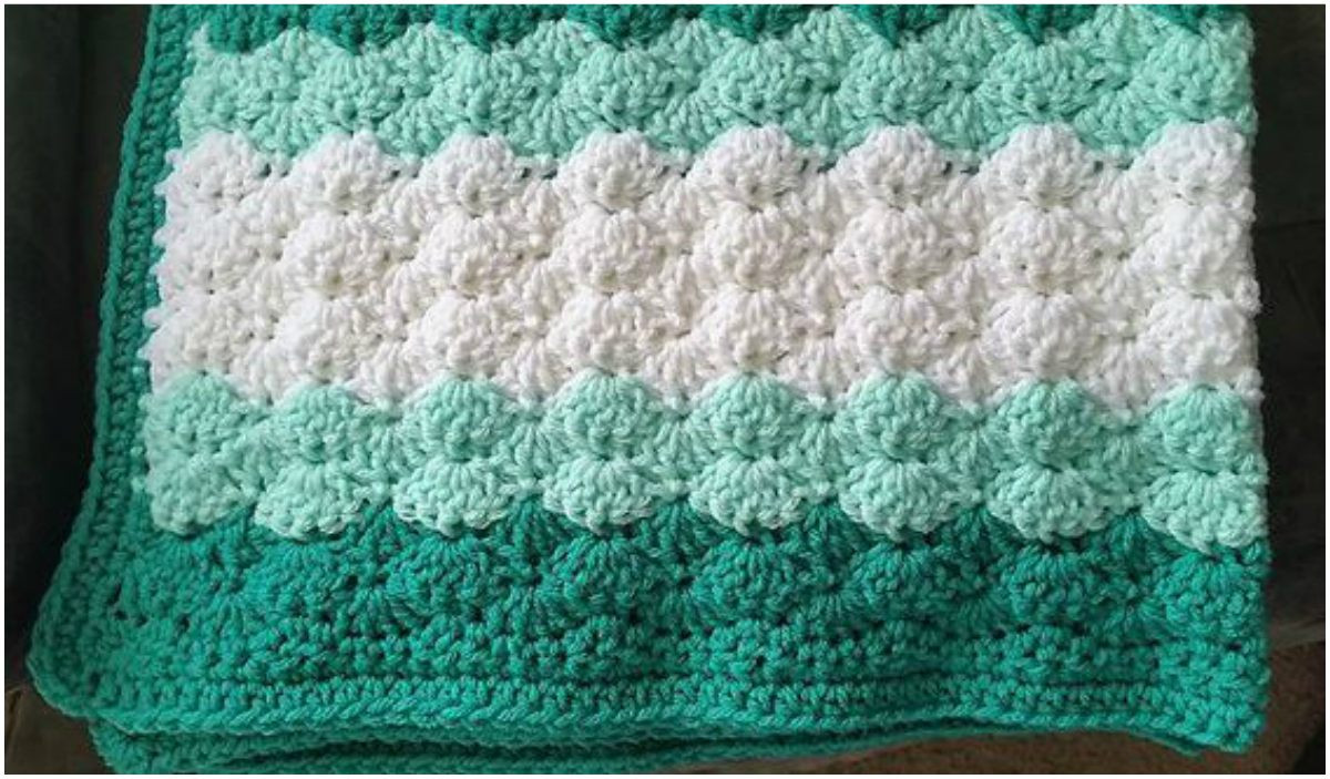 Fresh Shell Stitch Baby Blanket Free Crochet Pattern Shell Stitch Baby Blanket Of Brilliant 49 Images Shell Stitch Baby Blanket