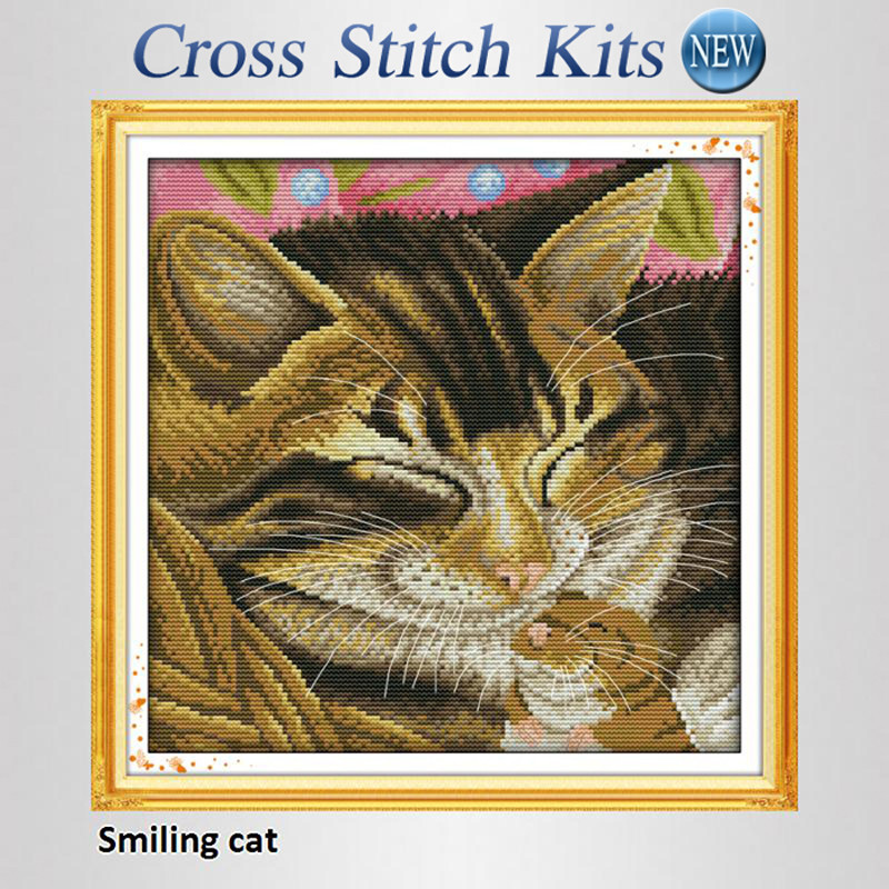 Fresh Smiling Cat Free Precise Printed Counted Cross Stitch Kits Cat Cross Stitch Kits Of Perfect 42 Pics Cat Cross Stitch Kits