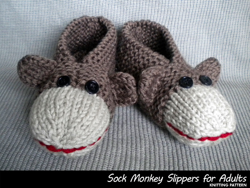 Fresh sock Monkey Slippers for Adults Knitting Pattern On Luulla Knitted Booties for Adults Of Delightful 47 Images Knitted Booties for Adults