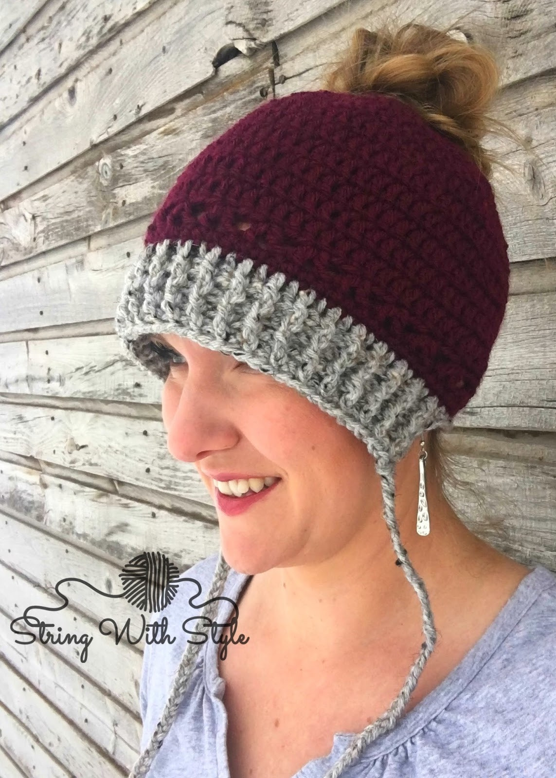 Fresh String with Style Winter Hat with Messy Bun Option Messy Bun Hat Pattern Of Perfect 44 Models Messy Bun Hat Pattern