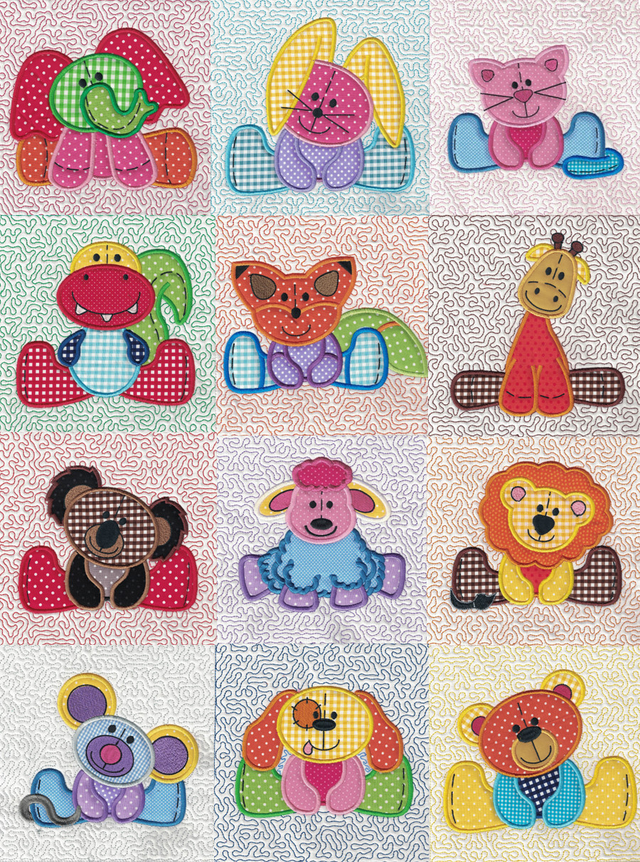 Fresh Stuffed Animals Applique and Quilt Blocks Embroidery Quilt Patterns Of Contemporary 50 Pictures Embroidery Quilt Patterns
