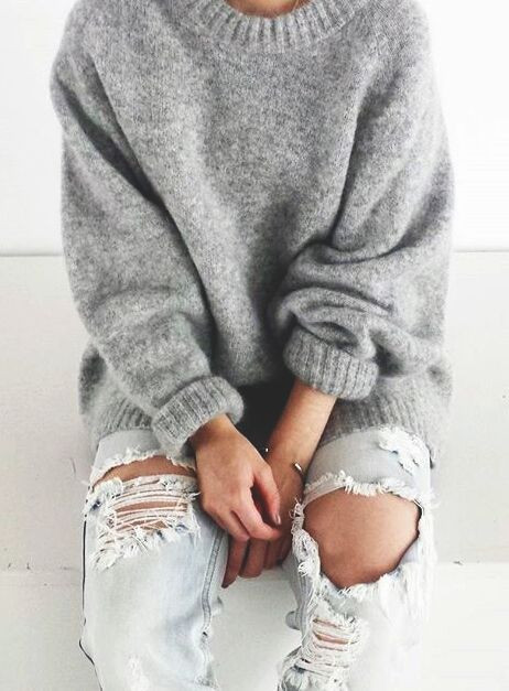 Fresh Stylish Collarless 3 4 Sleeve Loose Fitting Laciness Women Big Comfy Sweaters Of New 50 Pics Big Comfy Sweaters