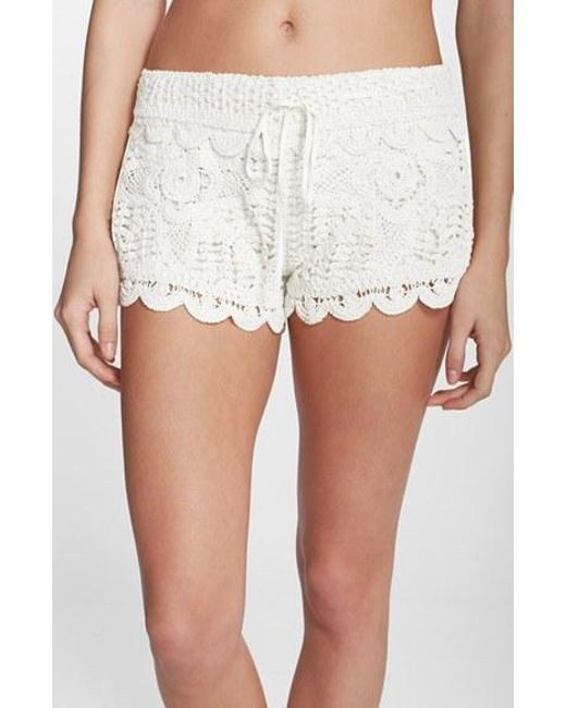 Fresh Surf Gypsy Crochet Cover Up Shorts In White White Crochet Shorts Of Amazing 40 Photos White Crochet Shorts