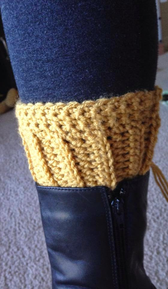 Tales of a Crafty Mommy Crochet Boot Cuffs Free Pattern