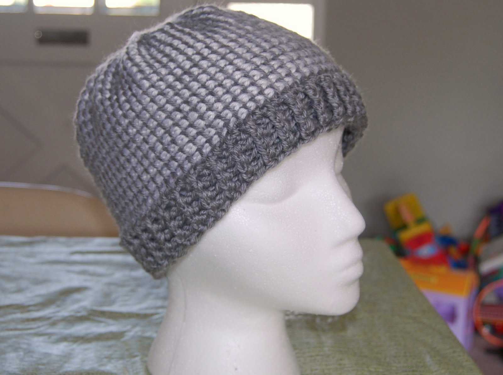 The Laughing Willow Ribbed Brim Tunisian Hat