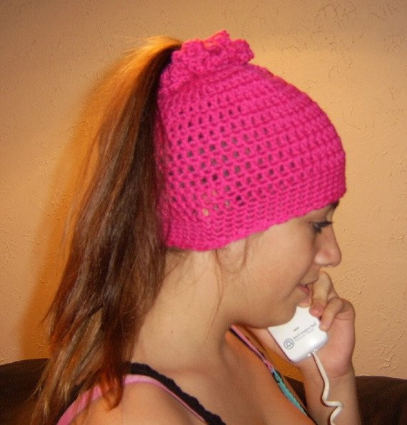 Fresh the Ponytail Hat Stocking Cap Crocheted In Hot Pink Crochet Stocking Cap Of Delightful 44 Pics Crochet Stocking Cap