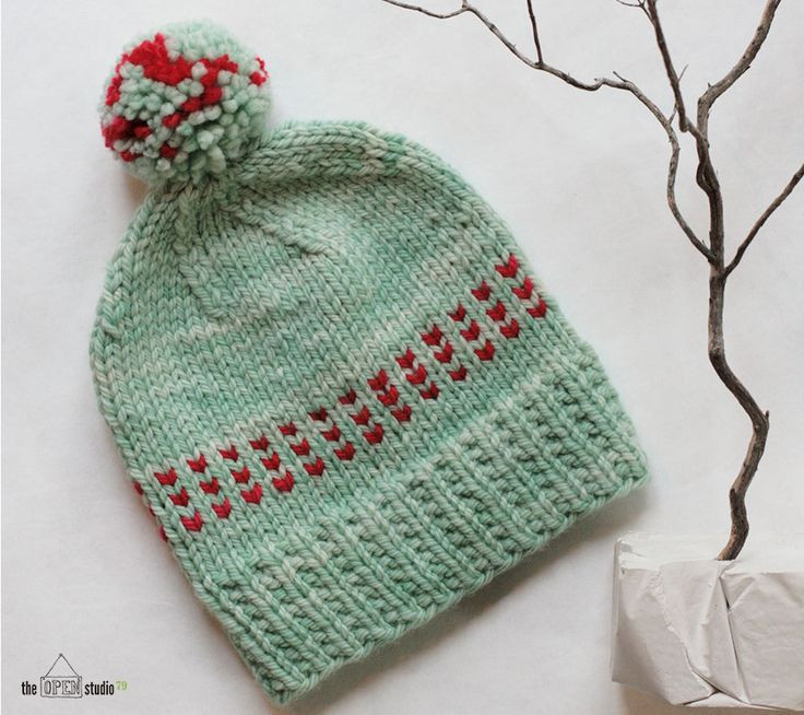 theOPENstudio 79 Winter Mint in malabrigo Chunky in Water