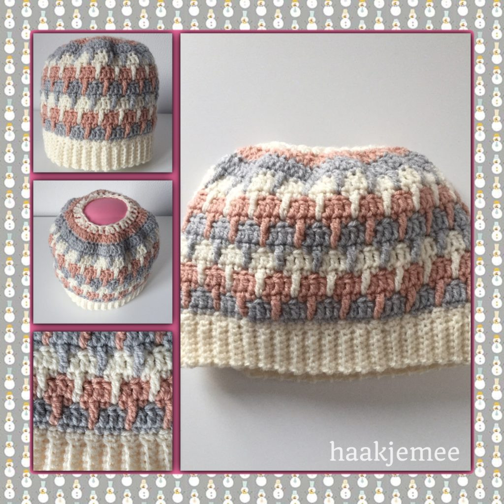 Fresh Three Color Messy Bun Beanie Crochet Pattern Haak Je Mee Messy Bun Beanie Crochet Pattern Of Adorable 45 Pics Messy Bun Beanie Crochet Pattern