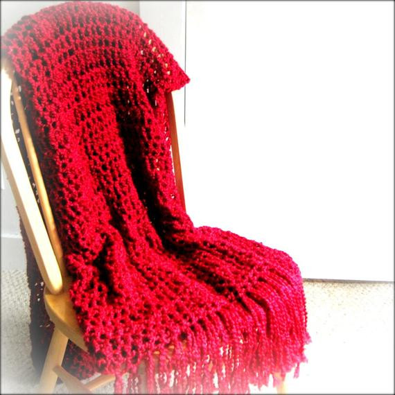 Fresh Throw Blanket Crocheted with Fringe Lap Size Rich Red Lap Blanket Size Of Lovely 45 Images Lap Blanket Size