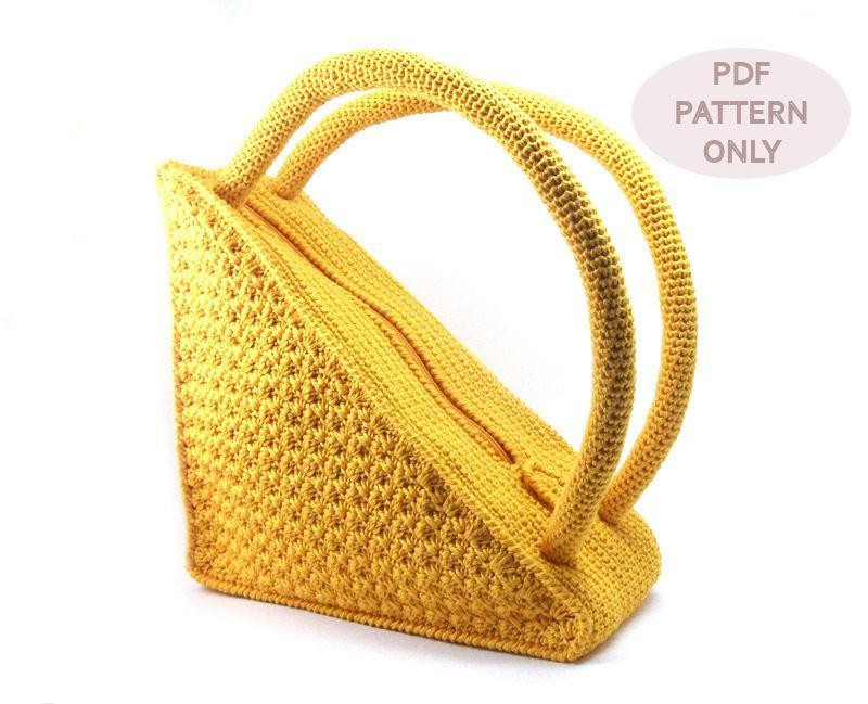 Fresh Triangle Bag with Round Handles by Aimarropatterns Craftsy Crochet Purse Handles Of Awesome 44 Pictures Crochet Purse Handles
