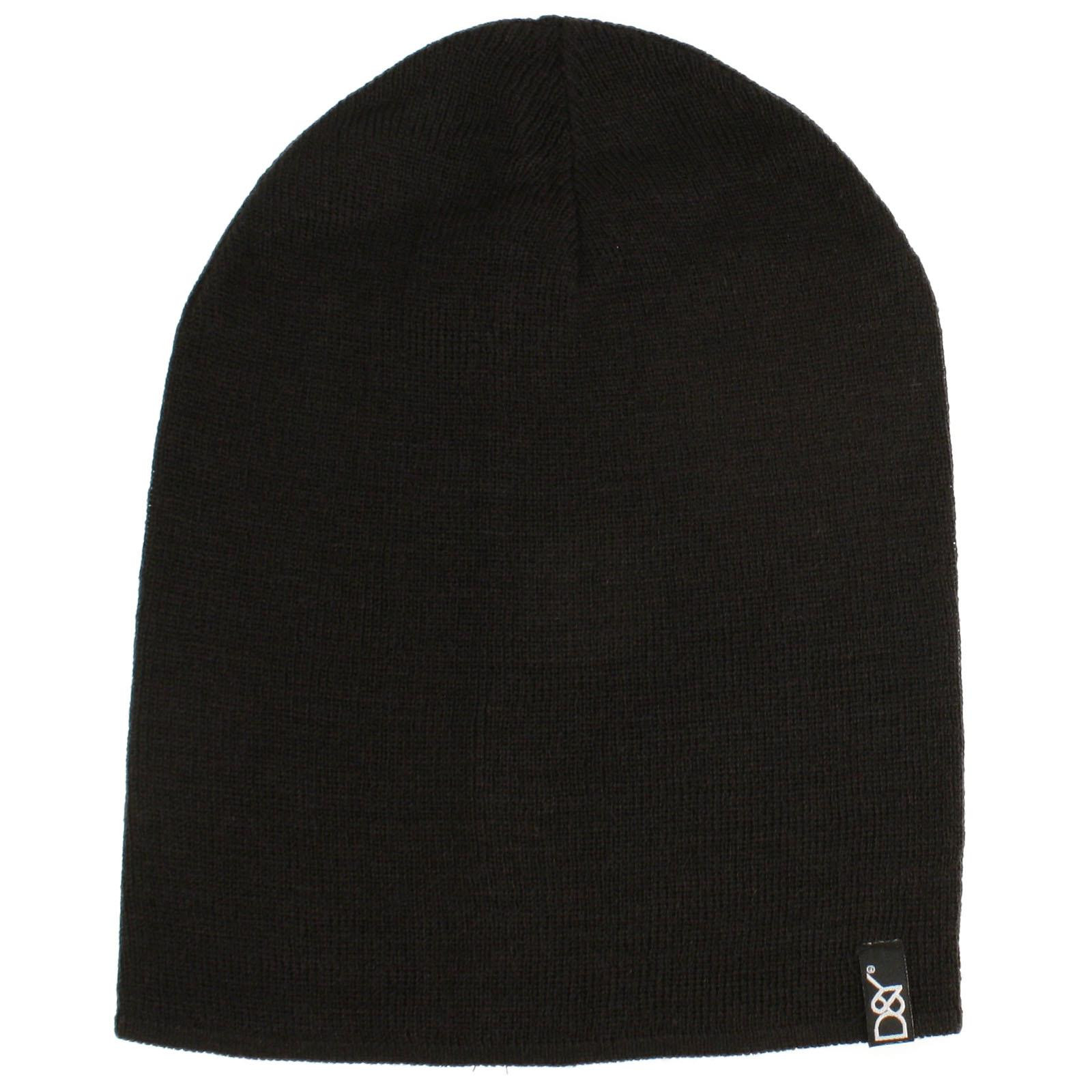 Uni Soft Thin Stretchy Knit Long Beanie Slouchy Slouch