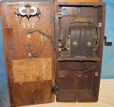 Fresh Vintage Antique Kellogg Wall Telephone Oak Case Crank Antique Crank Phone Of Top 49 Pictures Antique Crank Phone