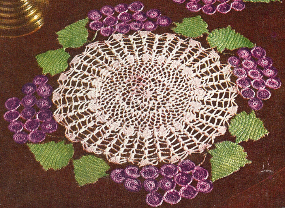 Fresh Vintage Crochet Pattern to Make Grapes Leaves Doily Motif Vintage Crochet Patterns Of Attractive 43 Pictures Vintage Crochet Patterns