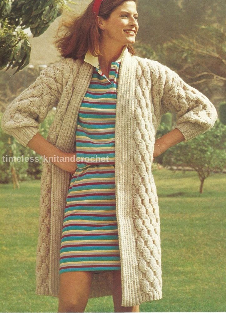 Fresh Vintage Knitting Pattern for An Edge to Edge Coat Long Long Cardigan Knitting Pattern Of Adorable 44 Models Long Cardigan Knitting Pattern