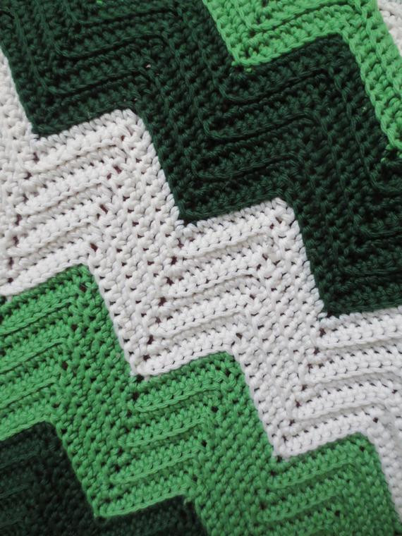 Fresh Vintage Zig Zag Crochet Throw Blanket Afghan Green Zig Zag Crochet Afghan Pattern Of New 43 Pics Zig Zag Crochet Afghan Pattern