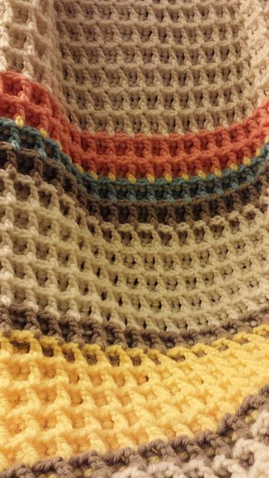 Waffle Stitch baby blanket You can learn the stitch here