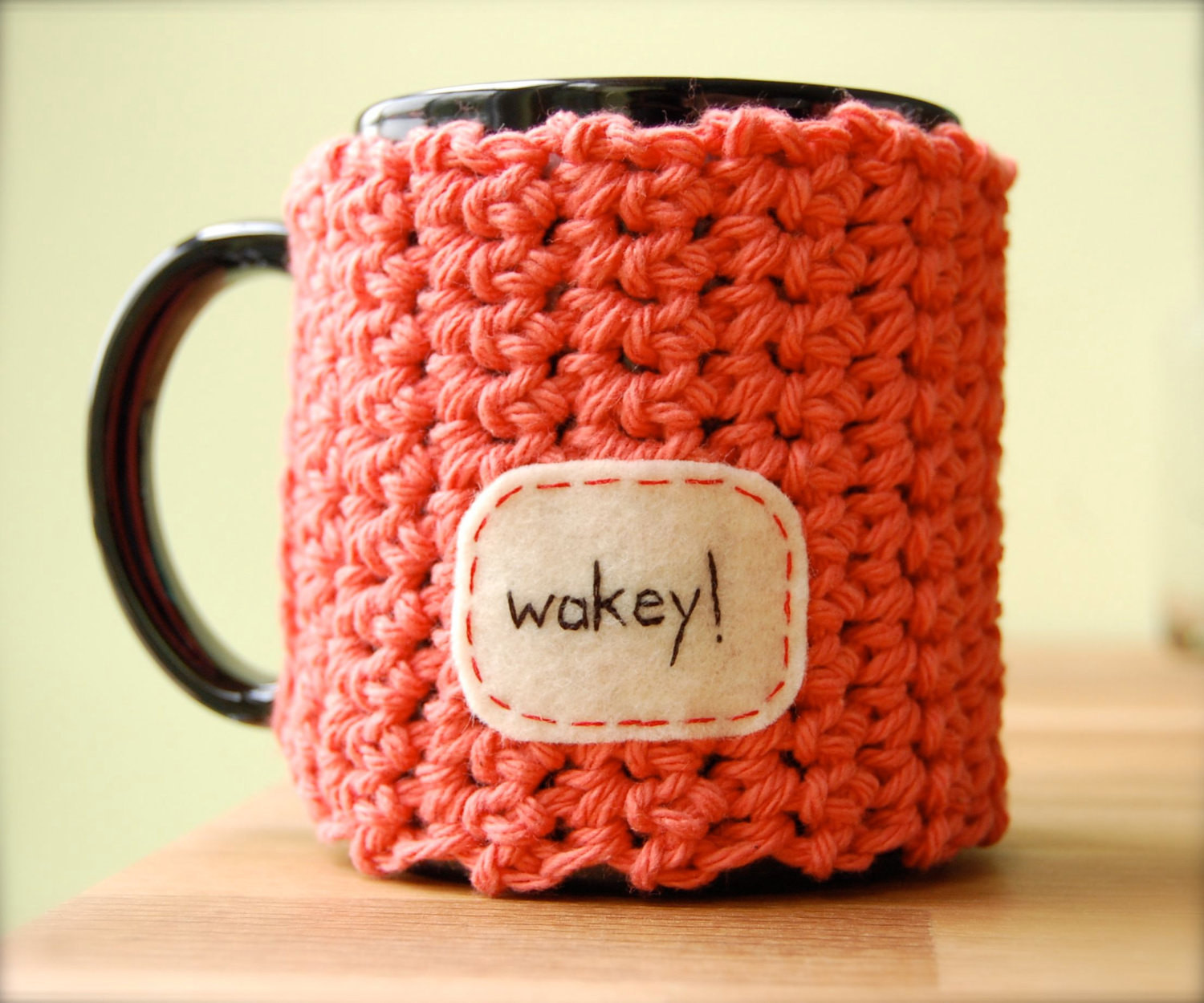 Fresh Wakey Coffee Mug Cozy Tangerine Crocheted Tea Cup Cosy Made Coffee Cup Cozy Of Awesome 47 Images Coffee Cup Cozy