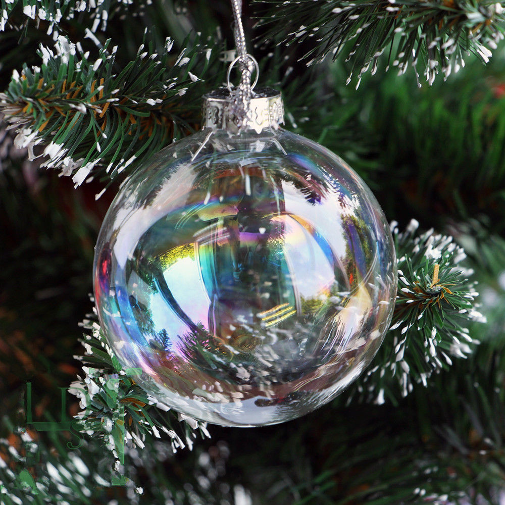 Fresh Wedding Clear Iridesecnt Glass Baubles Ball Tree Hang Glass Christmas Decorations Of Elegant Blown Glass Christmas ornaments Glass Christmas Decorations