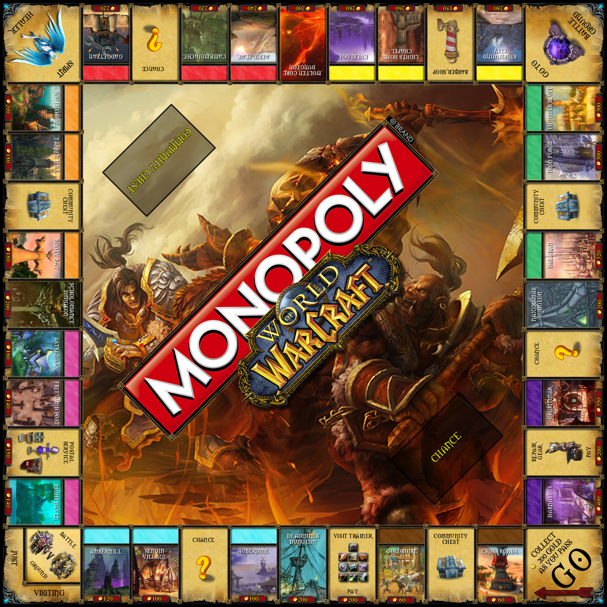 Fresh World Of Warcraft Monopoly Cool Monopoly Games Of Charming 45 Images Cool Monopoly Games