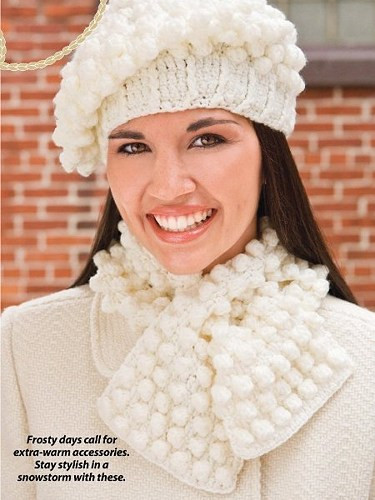 Fresh X474 Crochet Pattern Only Snowball Hat and Scarf Set Plus Crochet Hat and Scarf Set Of Amazing 44 Models Crochet Hat and Scarf Set