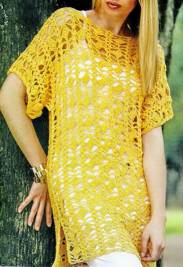 Fresh Yellow Crochet Tunic ⋆ Crochet Kingdom Free Crochet Tunic Patterns Of Marvelous 46 Images Free Crochet Tunic Patterns