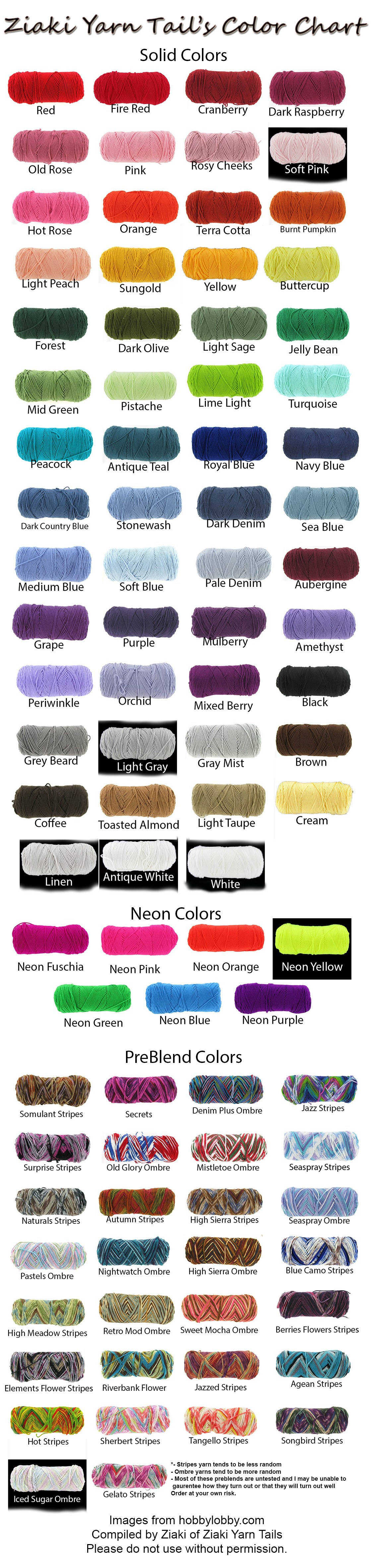 Fresh Ziaki Yarn Tails Color Chart by Serenitymoonwolf Red Heart with Love Yarn Colors Of Wonderful 40 Ideas Red Heart with Love Yarn Colors