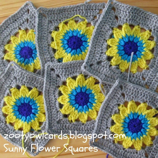Fresh Zooty Owl S Crafty Blog Happy Days Cal 2 Sunny Flower Crochet Flower Square Of Brilliant 47 Models Crochet Flower Square